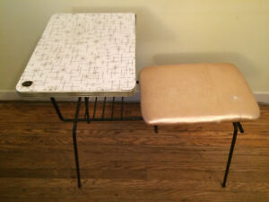 Vintage Mid-Century Telephone Table, Formica Top
