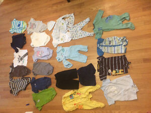 Lot of 26 boys' items 3-6 months