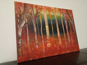 Fall Forest - Abstract Painting