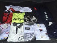 Tennis clothing tshirts trousers polo shirts jacket yonex