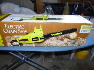 Brand new electric chainsaw - Poulan -