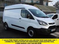 2014 FORD TRANSIT CUSTOM 330/155 L2H2 LWB HIGH ROOF RARE DIESEL VAN WITH AIR CON