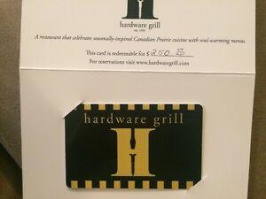 $250 Hardware grill gift card