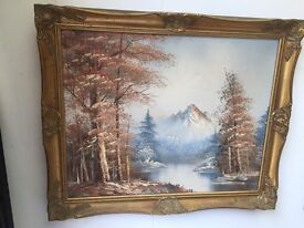 Stunning Canvass Painting In Frame