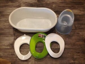 Baby bathtub and toddler potty seats