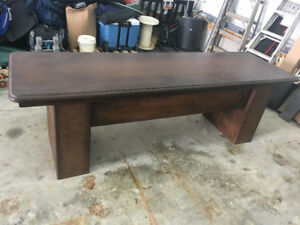8 foot work table solid wood hand made