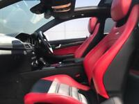 2011 61 Mercedes-Benz C63 AMG 6.3 Edition 125 Coupe + WHITE + RED Leather +