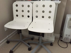 white wooden IKEA chairs
