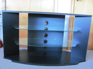 Selling a Corner TV Stand with Glass Shelves