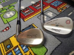 Titleist wedges 54degree vokey and 50 degree forged wedge