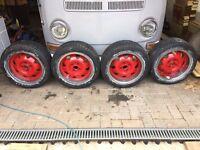 ATS cup alloy wheels 4x100 toyo tyres