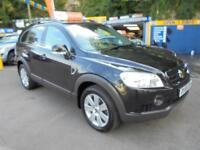 2008 58 CHEVROLET CAPTIVA 2.0 VCDI LTX 7S AUTO IN BLACK # LOW MILEAGE FSH #