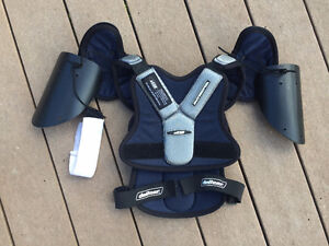 Lacrosse Shoulder and Elbow/Arm Pads, Face Guard