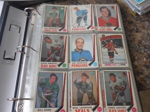 Binder of old hockey cards