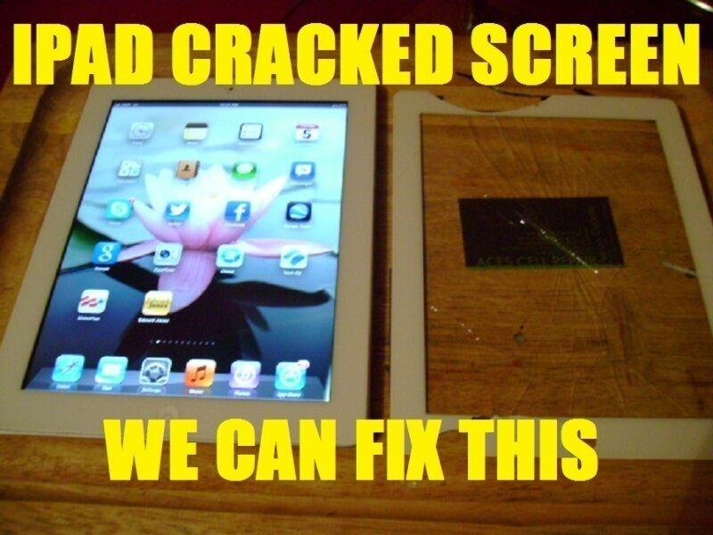 Ipad 2-3-4 Broken Cracked Screen Replacement Repair Service