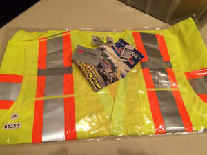 """""""Clearance"""" Lime Green Traffic Vests  L/XL"""