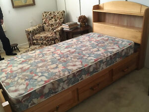 Twin Captain's/Mate bed with mattress