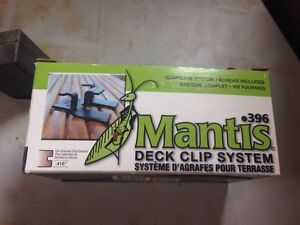 $125 - Ten boxes of Mantis clips - invisible deck fasteners