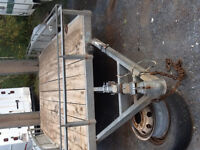 Galvanized trailer duel axle trailer with loading ramps