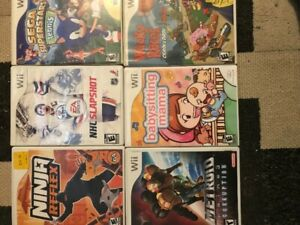 6 Nintendo wii games 50.00 for all