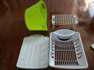 Dish drying rack - Tray / Large tub / small wire shelf