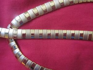 Very High Fashioned Gold Toned Necklace and Bracelet Set