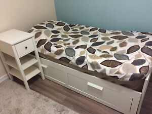 IKEA  brimnes trundle twin2queen daybed/+mattress+table