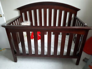 3 in 1 crib with mattress and mattress cover