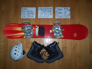 159 cm Planche à neige rouge MORROW snow BAS PRIX