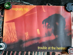 TRAGICALLY HIP GORD DOWNIE promotional poster RARE