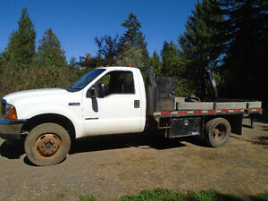 2000 Ford XL F450 4x4 7.3 diesel flatdeck Ex Government truck