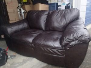 High End Leather Love Seat