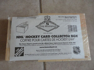 Wooden NHL Hockey Cards collectors box building kit hobbies NEW