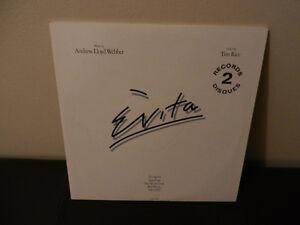 Vinyl Records Evita Opera Based on the Life of Eva Peron 2 LP's