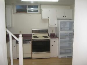 Large 2 Bedroom One Bath Basement Suite with dedicated Laundry.