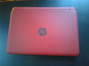 Red HP Pavilion Laptop