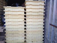 Patio stone concrete molds (16 inch by 16 inch by 2 inch)