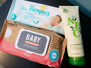 Baby wipes and baby lotion LOT, NEW