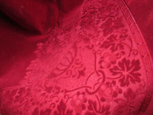 Vintage Red Velvet frm Greece- cover- could be as rug never used