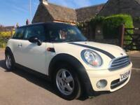 2010 MINI COOPER 1.6 D 3DR MANUAL WHITE