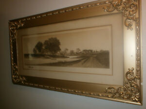 Print signed by artist E.C.Rost. gorgeous frame London Ontario image 2