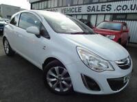 2012 Vauxhall Corsa 1.2 Active - White - 12 Months Platinum Warranty / MOT!