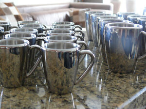6 espresso cups, Stainless steel, Indestructible.