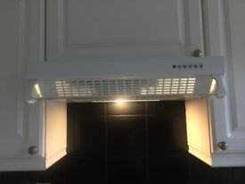 Cooke and Lewis White cooker hood
