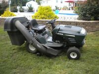 SEARS RIDING LAWNMOWER(WHY RAKE WHEN YOU CAN DRIVE AROUND & BAG)