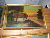 Vintage Mill Painting - unique Christmas gift