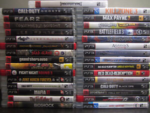 Various PS3 games. $7 each or 3 for $20