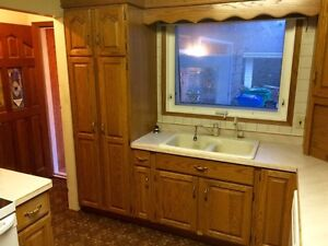 OAK cabinets for sale!