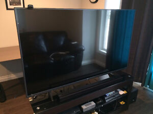 """LG 65"""" 4K Smart TV , LED , with sound bar and TV stand 1 Year ol"""