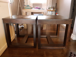 Solid wood end tables